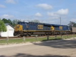 CSX 911 and 705 Pulling Hoppers