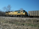 CNW 8827 - UP 6729 DPU on eastbound UP loaded coal train