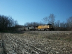 UP 7213 eastbound UP loaded coal train