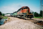 BNSF 7143 westbound off the Topeka sub at NR jct