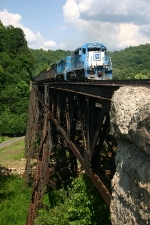 WE 6382 on a large trestle