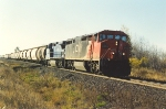 Eastbound potash train