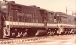 Southern Railway in the Deep South in 1970s