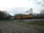 UP 7360 eastbound UP loaded grain train