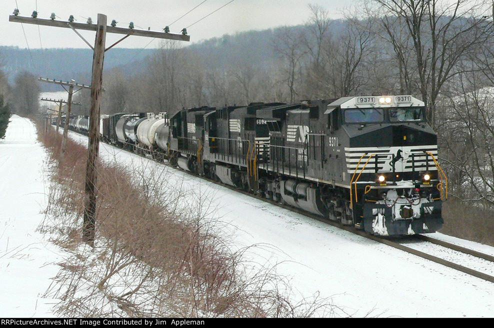 NS 13E southbound detour train