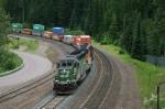 Westbound SD40-2 stack train