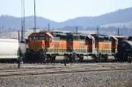 SD40-2s in the yard