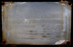 Builders Plate of Mississippi Railcar's large Locomotive