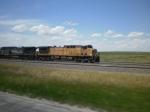 UP 6662 leading a loaded coal