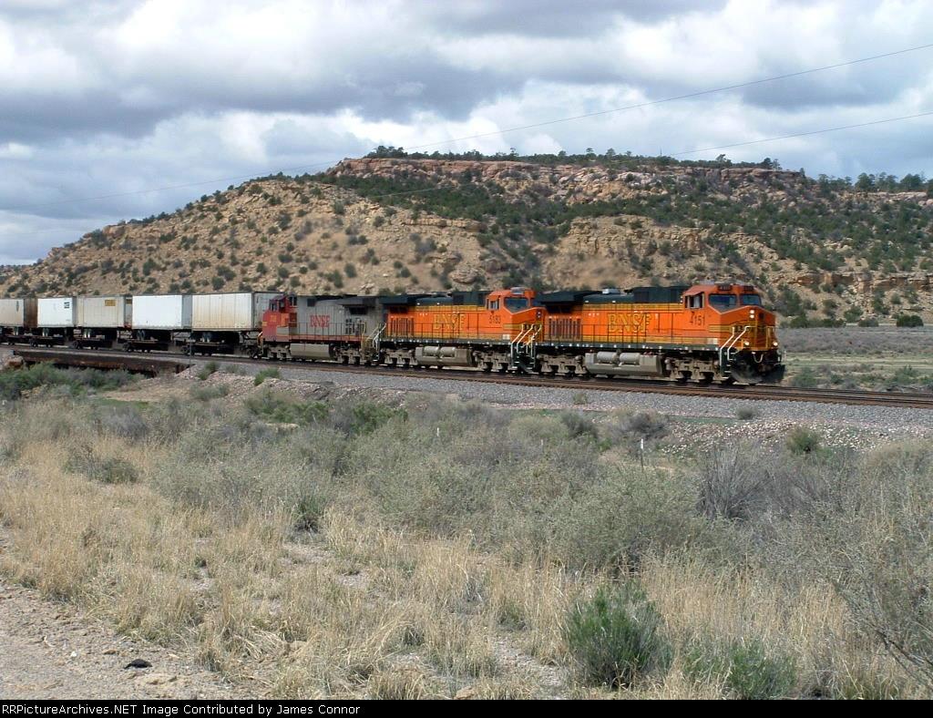 BNSF 4151 Leads an Intermodal