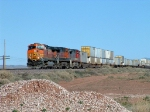 BNSF StackTrain at led by C44-9W 4372