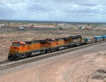 BNSF 567 Leads a Stack Train