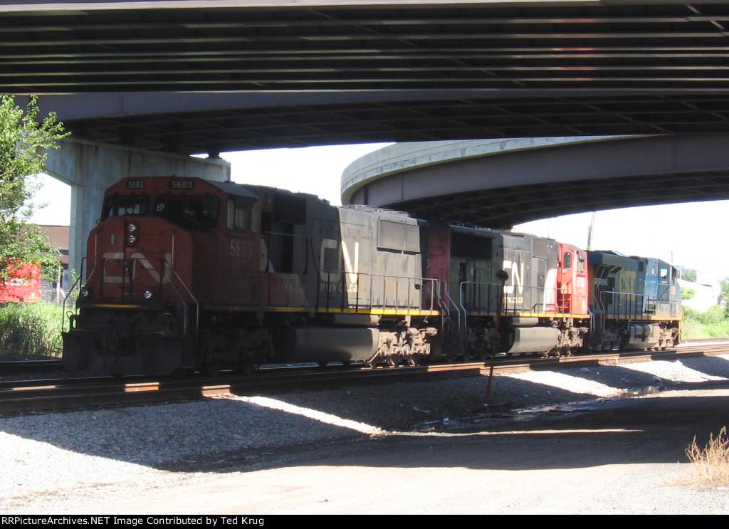 CN 5683, CN 5715 & CSX 5242