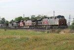 KCS 4614, BNSF 635 & NS 8000