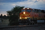 BNSF 7219 rolls west in this evening dusk shot as she rolls west with a Z-Train.