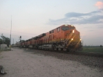 WB intermodal train taking the high speed switch at around 55mph