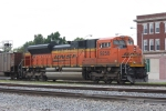 BNSF 9258, DPU on southbound coal load