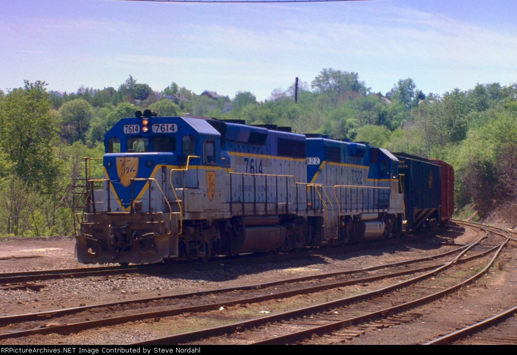 D&H SB-1 arriving Taylor Yard in Taylor, Pa.