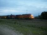 BNSF 5355 westbound UP manifest train