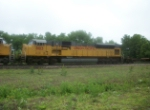 UP 8103 on eastbound UP baretable train