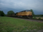 UP 6454 DPU on eastbound UP loaded coal train