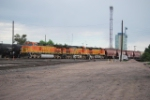 BNSF 5279 Point On A Covered Hopper Train Departing Denver's BNSF Yard