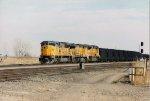 UP 8033 leading a coal train