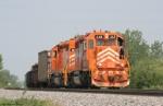 EJ&E SD38-2 #668 & SD38-3 #659