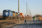 Father and Son Railfans