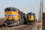 CSX 1552 Overtakes UP 5520