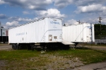 Long after Conrails dimise, these Conrail trailers sit in an empty lot