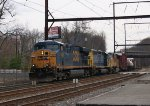 CSX Q438-09 With UP SD70M - 4/10/2011