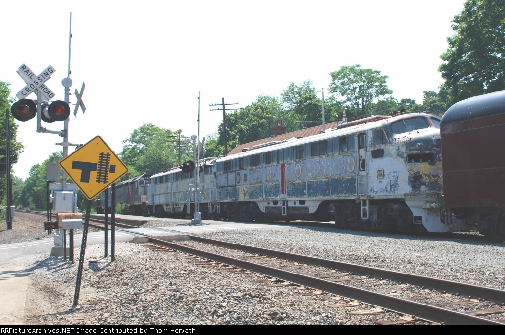Erie E8s 834 and 835 are part of NJT's consist
