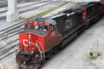 Canadian National pulls a mixed freight through Toronto