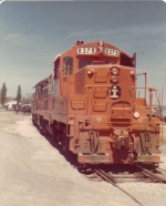 ICG 8379 leads a road consist at Finley Avenue in the old ICG terminal in Biringham.