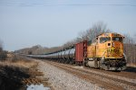 BNSF 9978 pushes Ethanol tanks west