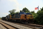 CSX 750 & 386 parked not too far from the birthplace of the Star Spangled Banner
