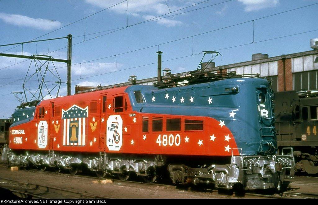 CR 4800--Bicentennial GG1s