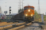 BNSF 7435 and a Mixed Freight