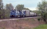 CR power pulling a NB freight on CSX main