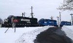 Three Idling Geeps at the Morrisville Yard - 1/30/2011