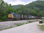 CSX eastbound loaded coal train heading for Loyall
