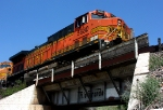 BNSF 5680 on the old Rio Grande bridge