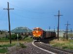 BNSF 6337 leads it's train through the S curve