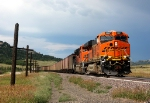 The storm is off to the north now as another coal train heads south