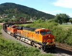 BNSF 6337 leads a coal train south