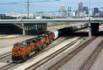A BNSF freight departs for the Moffat Route