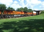 BNSF 7876 and 7260