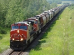 CN 2564 and 5730 head east under Range Road 224