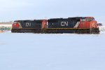 CN 5737 & 2623 Depart the Sturgen industrial area after completeing their switching duties